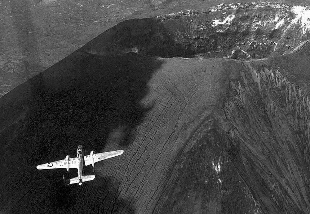 B-25 over Vesuvius, Italy May 1945.jpg